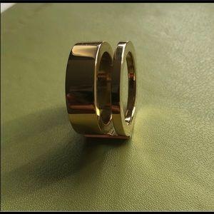 Gold Michael Kors Double Barrel Ring